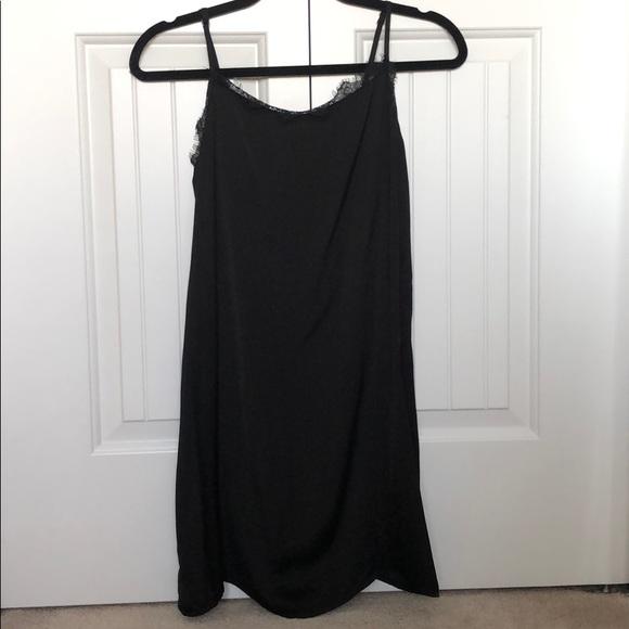Hollister Silky Spaghetti Strap Slip Black Dress